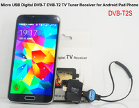 Portable Auto Mobile Quad USB DVB-T Tuner DVB-T2S Micro USB Digital TV Tuner Receiver for android pad