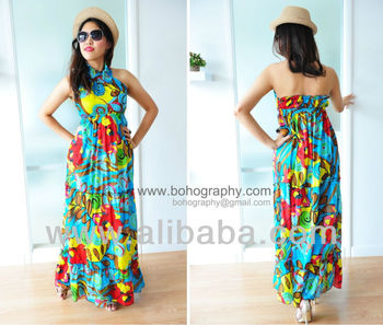 Boho chic - bohemian gypsy maxi casual long dresses