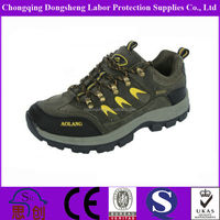 smooth finished cow leather hiking sporty men safety shoe