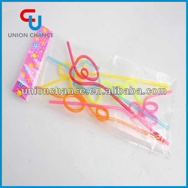Unique Style Straws Wholesale Cruling Drinking Straw Plastic Straws
