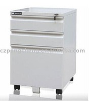 Pedestal 3 Drawer Powder Coating Factory Lockable Steel Office Cabinet
