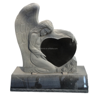 China Shanxi Black Granite Monuments Angel