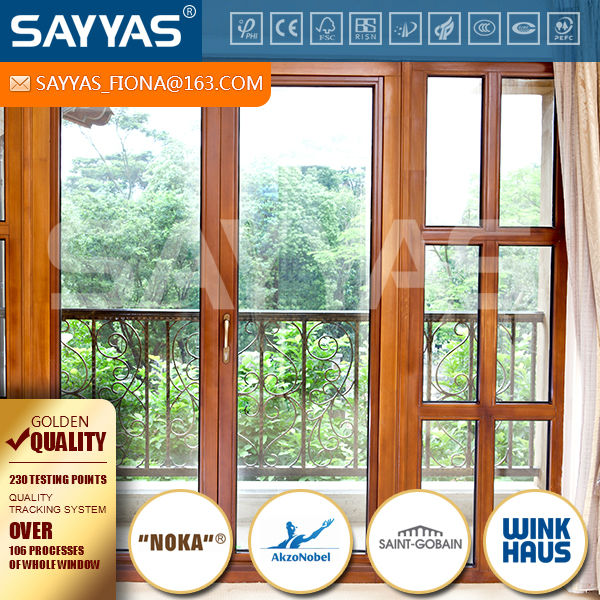 double glazing solid wood french air tight windows