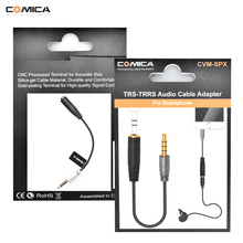 CoMica 3.5mm Audio Cable Adapter Microphone Cable Adapter for Camera, Camcorder and Smartphones