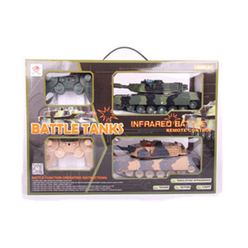 YK0807521 2017 hot lastest toys 4 Channel Remote control battle 2 tanks/box turning function w/light sounds light