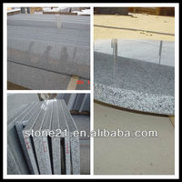 factory sale polished black grey white granite G603