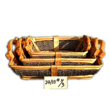 S/3 Bread Basket Woven Basket for Food Fruit Sundries