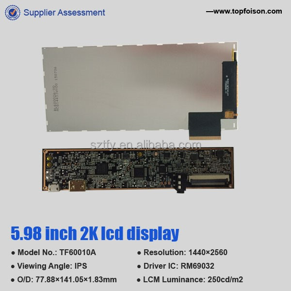 6 inch tft LCD panel is 1440p vr used to display module i i with mipi LCM componentlcm interface component hdmi board