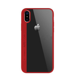 Premium Hybrid Protective Clear TPU Bumper Case with Hard PC and Soft Silicone Mobile Phone Cover for Apple iPhone X