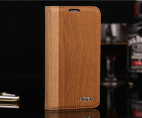Newly Dual Color Wooden Pattern Flip Leather Case for Samsung Galaxy S5 i9600