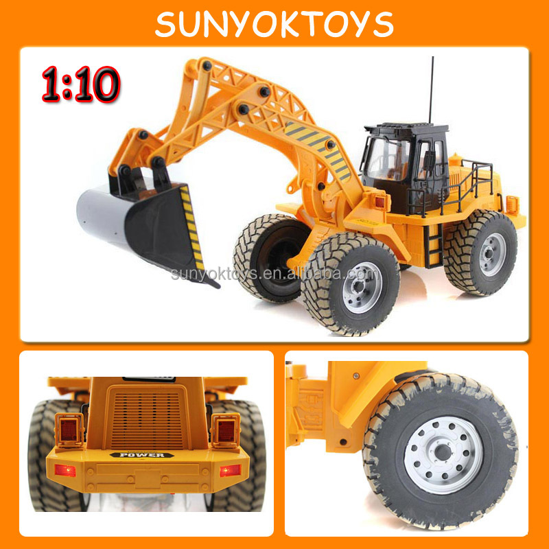 1:10 Large 6CH Radio Control Electric Excavator; RC Construction Toy Trucks Excavator