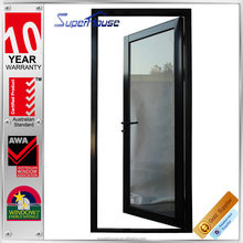 Australia standard double tempered powder coated interior aluminium glass french hinged door