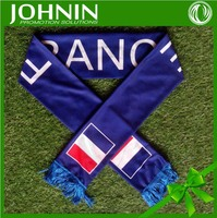 Wholesale gift Knitted polyester football team soccer fan scarf