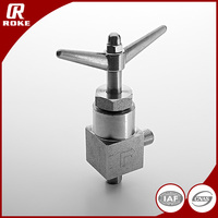 90 Degree Elbow SS316L Needle Valve High Pressure Relief Valves