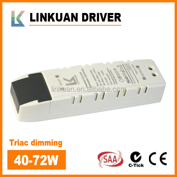 200-277VAC High quality 25-42V 700MA 900M 1200MA Constant Current triac dimmable led driver 40w 70w for Led Panel light