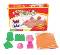 kids toy magic modeling sand art&craft sand and molds kit