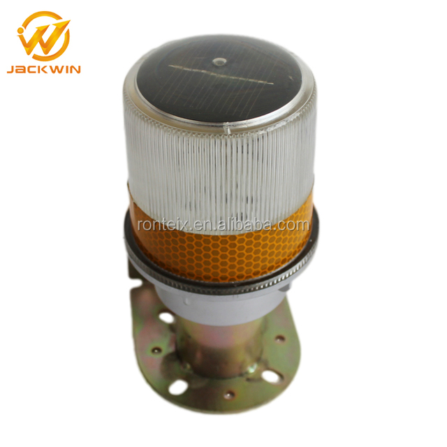 Metal Bracket Mini Solar Powered LED Flashing Light With Reflective Tape
