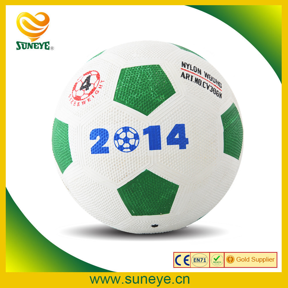 Colorful Deflated Rubber Soccer Ball 2014