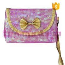 glitter PVC makeup bag with zipper closure