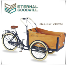 2015 hot sale 3 wheels 7speeds family for child cargo bike UB9032