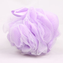 Factory supplying exfoliate body scrub shower soap gel ball nylon net bathing scrubber
