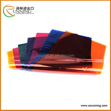 Coloured cellophane paper in sheet and roll