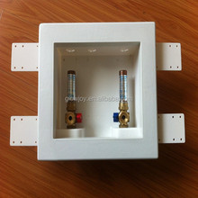 new arriving washing machine box with valves with water hammer arrestor