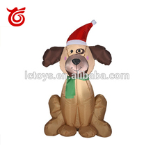 2017 cheap Christmas Inflatable dog with LED for holiday decoration