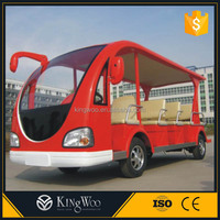 China made city electric sightseeing bus low speed vehicle