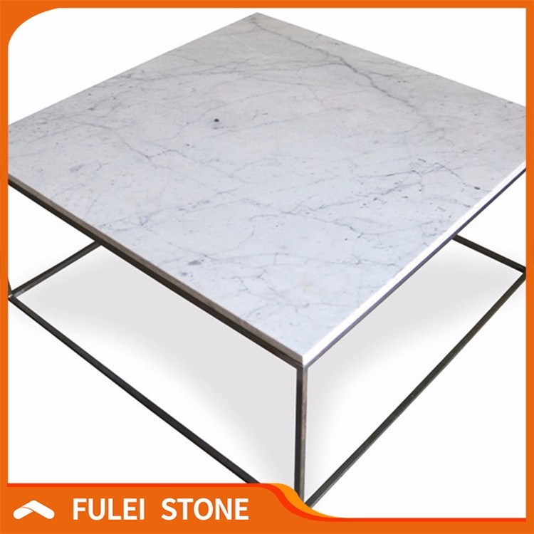 White marble coffee table tops
