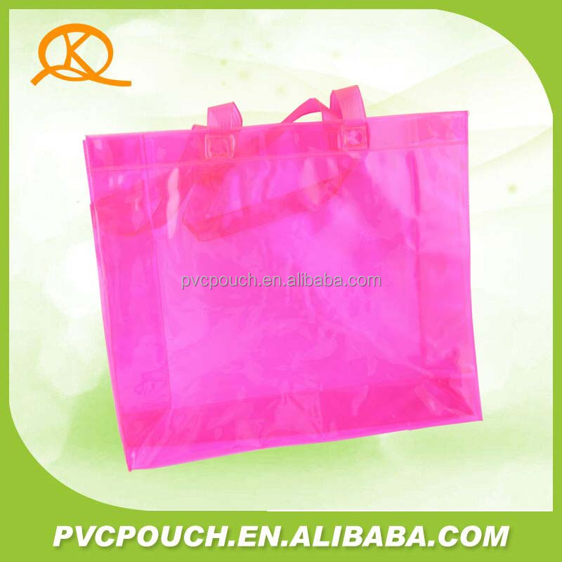 Custom transparent clear pvc plastic shopping plastic bags