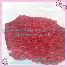 Red Crushed Clear Recycled Glass Sand for Water Filter Machine
