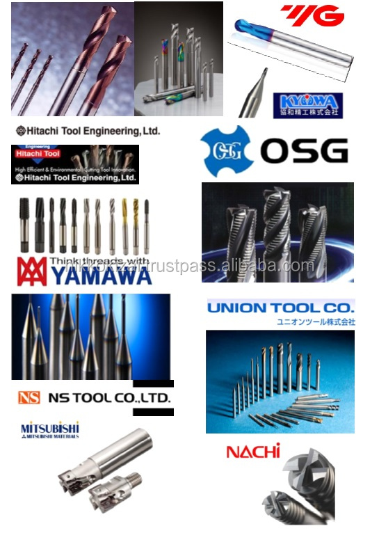 Cutting Tools for optical fiber cable Hitachi, OSG, YG-1, Mitsubishi, NS Tool, Kyowa, Nachi, Yamawa, Union Tool, Jimk