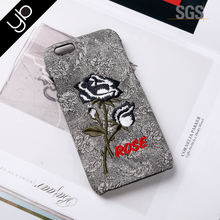 New design flower embroider mobile cell phone case phone accessories mobile case