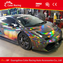 Holographic Rainbow Laser Chrome Car Wraps Vinyl