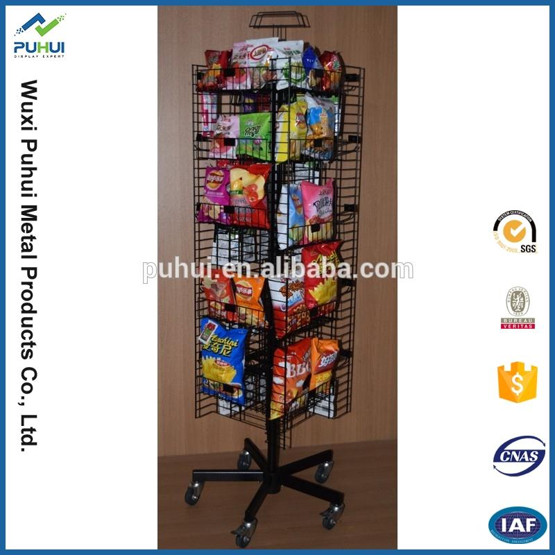 cheap detachable store display wire rack snack stand