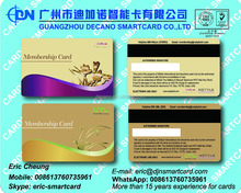 Gold Loyalty membership card with magnetic stripe and signature panel