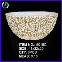 High quality new design white round flower pot