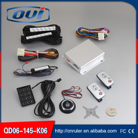Remote starter function and one way car alarm with engine start