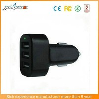 High Speed 5.1A 3-Port USB Car Charger For Apple And Android Devices