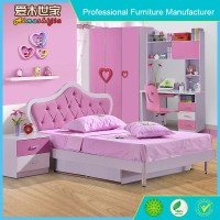 Modern Children Bedroom furniture Pink Blue Red Wooden Kids Bunk Bed,hello kitty bunk beds