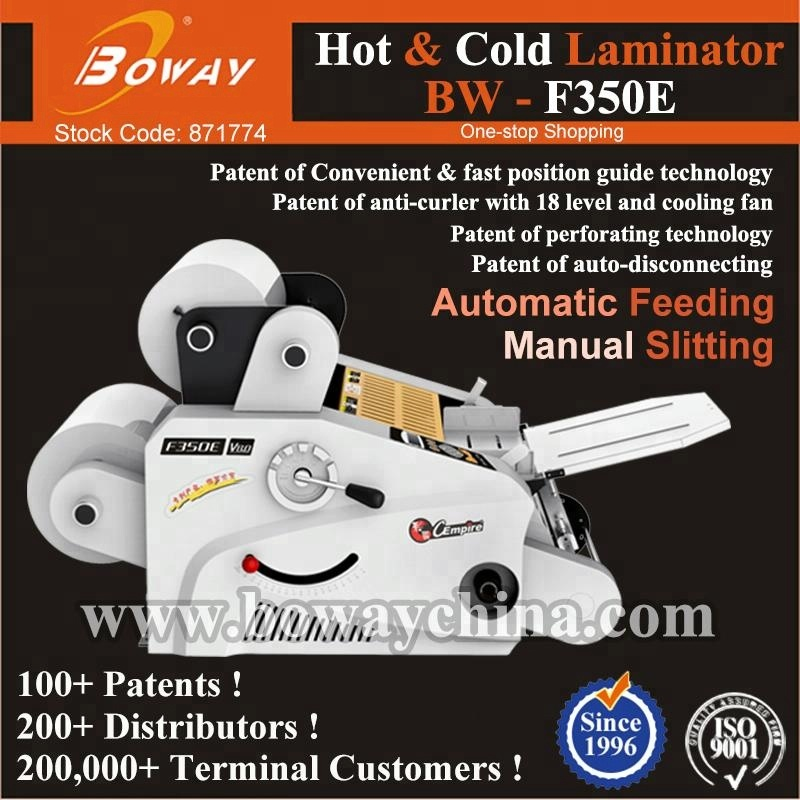 A3 A4 A5 board paper Auto feed Film Hand Operated slitting laminating machine bopp