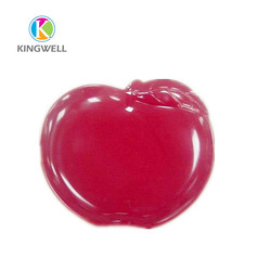 China export bright red apple shape dishes plate for kids