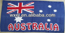 100% microfiber embroidery flag towels