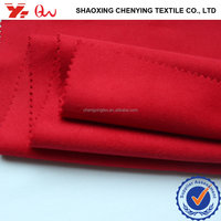 shaoxing keqiao HEAVY WOVEN 100%polyester suiting fabrics / cheap t/r brushed melton fabrics for winter coat