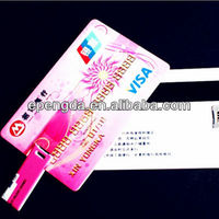 colorful credit card shaped usb flash drive 2gb,logo card shaped usb flash 2gb 4gb,oem credit card usb flash drive 2gb