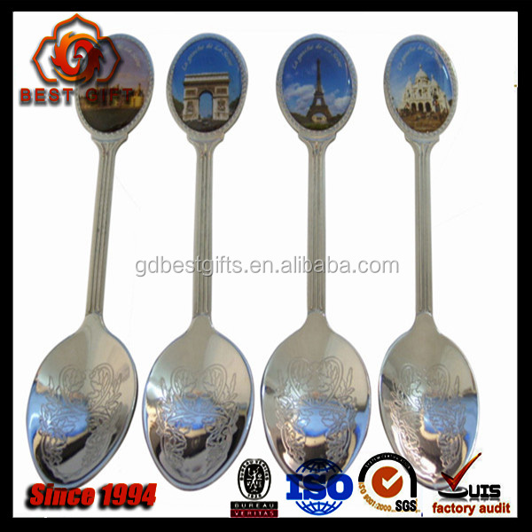 Travel City Advertising Souvenir Spoon With Custom Sticker
