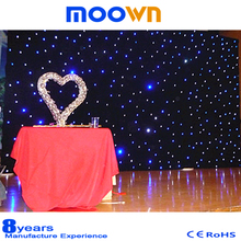 Wedding decorative backdrop led star cloth , led star curtain