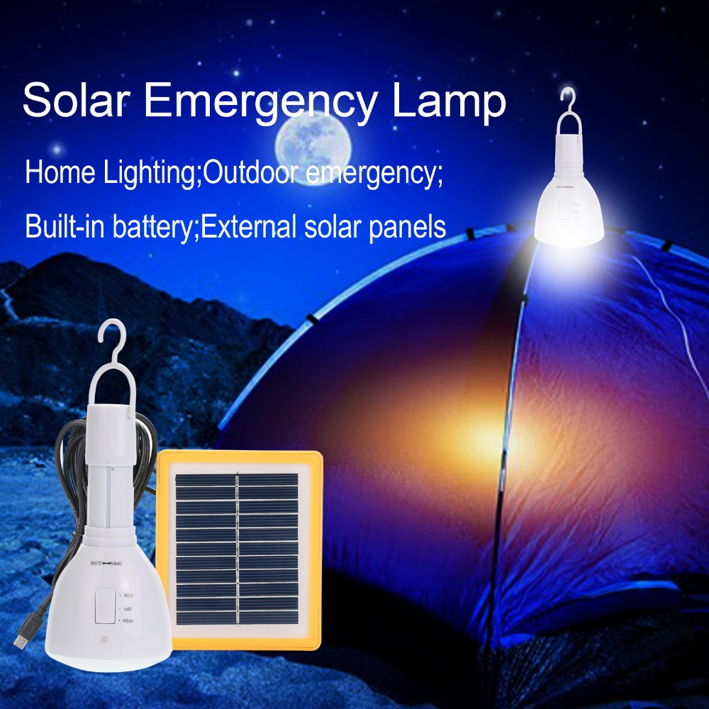 Solar Panel Powered Super Bright 39 LED Solar Bulb With Portable Hook,Solar Flashlight For Outdoor Fishing Hiking Light Camping