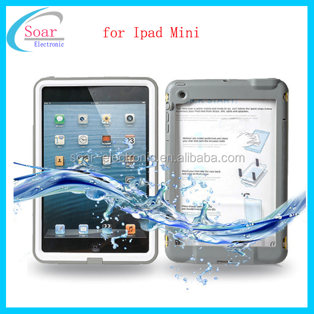 Wholesale super waterproof tablet case for Ipad Mini,protective waterproof tablet case for Ipad Mini